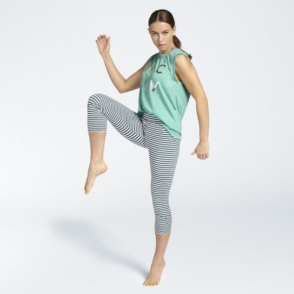 B ACTIVE Box Top Lagoon & Sportlegging Pond Stripe