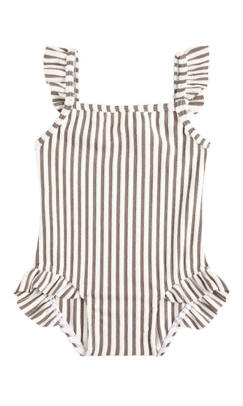 Beachlife Taupe stripe mini baby badpakje 960360-782