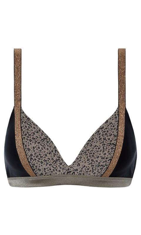 Beachlife Cheetah bikini top 970109-960