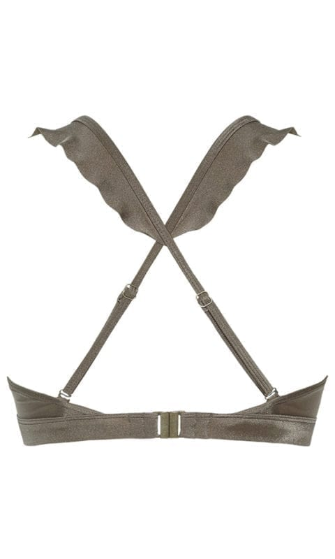 Beachlife Planet taupe bikini top 970125-353