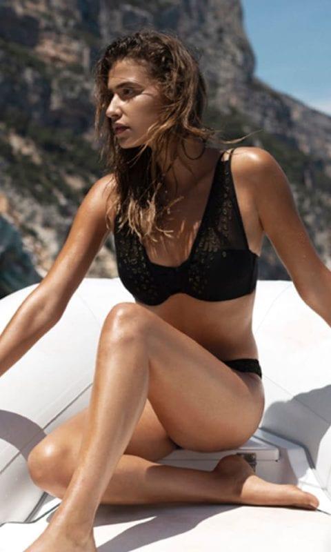 Beachlife Black bikini top 970122-962