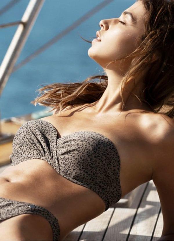 Beachlife Cheetah bikini top 970102-960