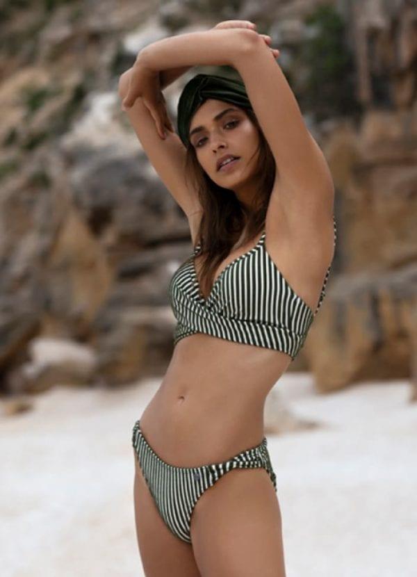 Beachlife Cypress stripe bikini top 970112-068