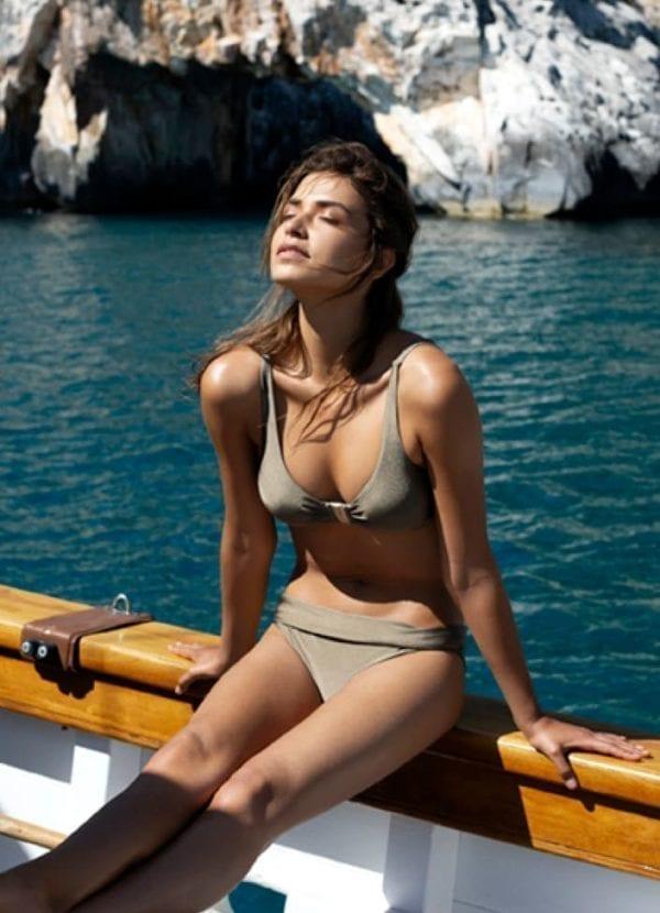 Beachlife Planet taupe bikini top 970104-353