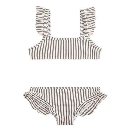 Beachlife Taupe stripe mini meisjes bikini 960160-782