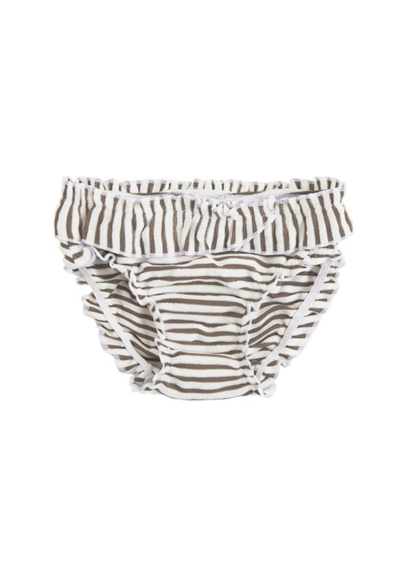 Beachlife Taupe stripe mini baby broekje 960260-782
