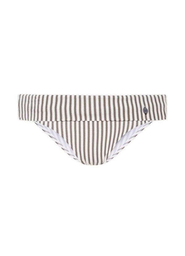 Beachlife Taupe stripe bikini broekje 970201-782