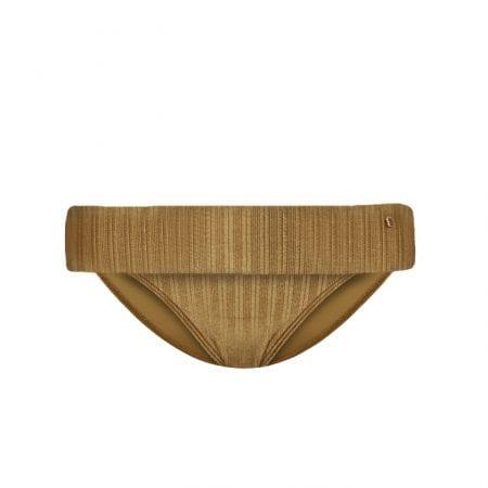Beachlife Dull Gold turnover waistband bikini bottom Covered fit