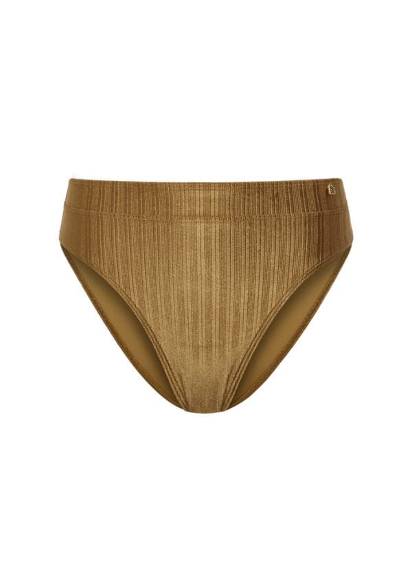 Beachlife Dull Gold high waist bikinibroekje
