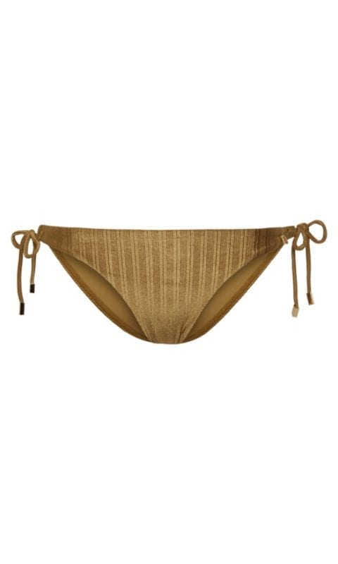 Beachlife Dull Gold strik bikinibroekje