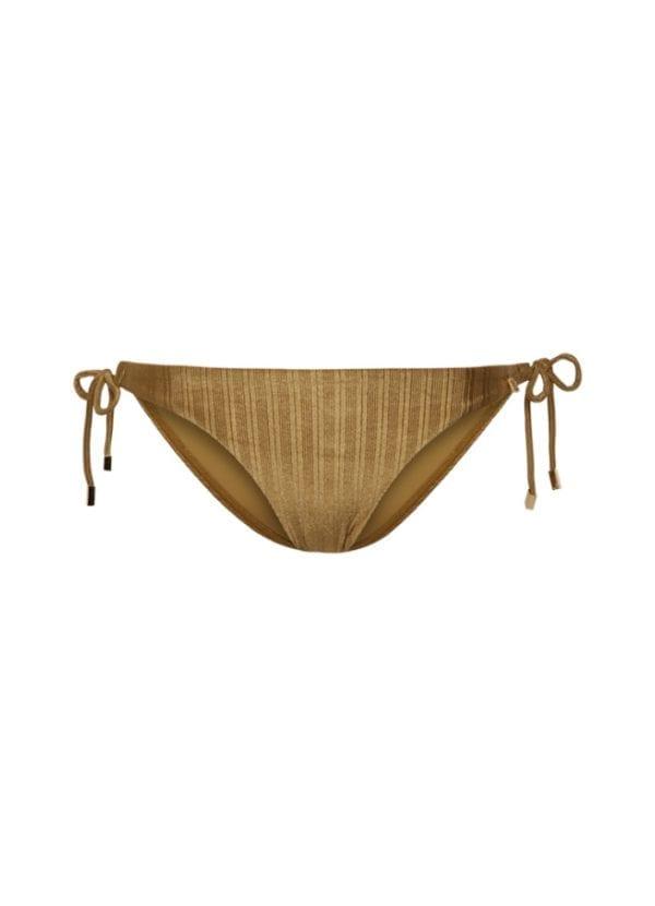 Beachlife Dull Gold strik bikinibroekje