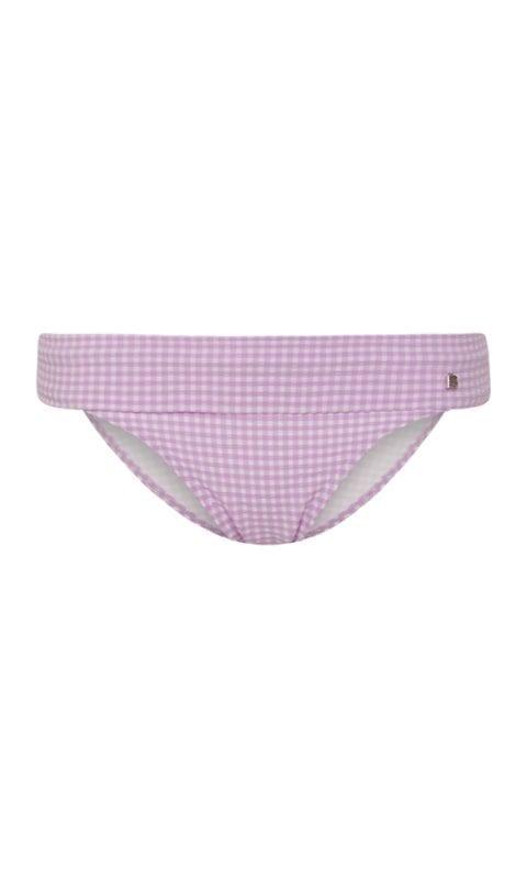 Beachlife Lilac Check omslag bikinibroekje bedekte fit
