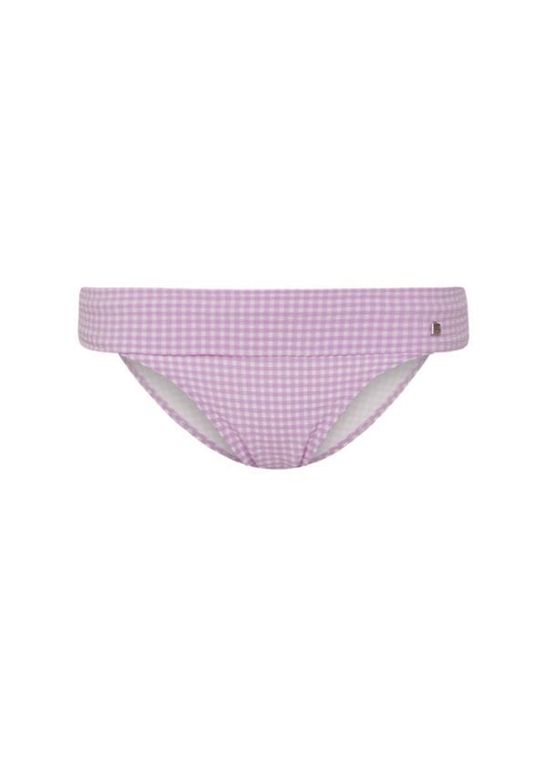 Beachlife Lilac Check omslag bikinibroekje
