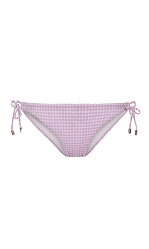 Beachlife Lilac Check strik bikinibroekje normale fit