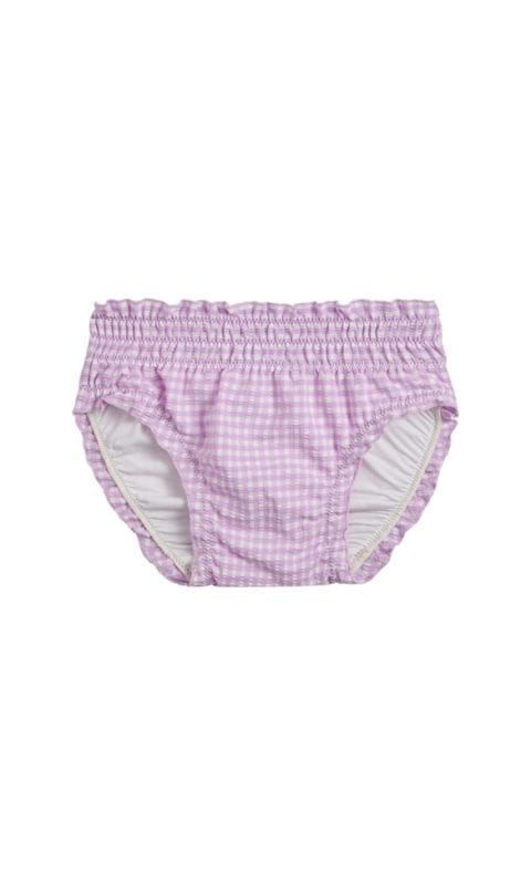 Beachlife Lilac Check baby swim bottom 6 months - 2 years