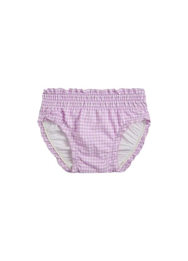 Beachlife Lilac Check baby swim bottom 6 months - 2 years