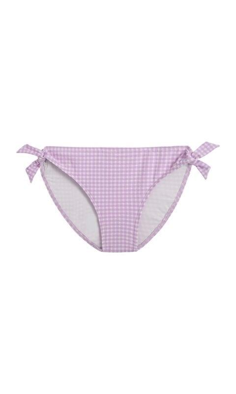 Beachlife Lilac Check meisjes bikinibroekje 4 t/m 16 jaar
