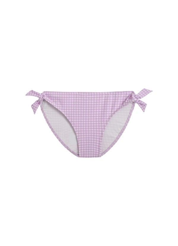 Beachlife Lilac Check meisjes bikinibroekje