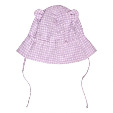 Beachlife Lilac Check kids zonnehoed