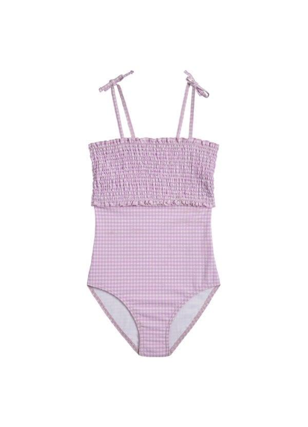 Beachlife Lilac Check meisjes badpak 6 maanden t/m 16 jaar