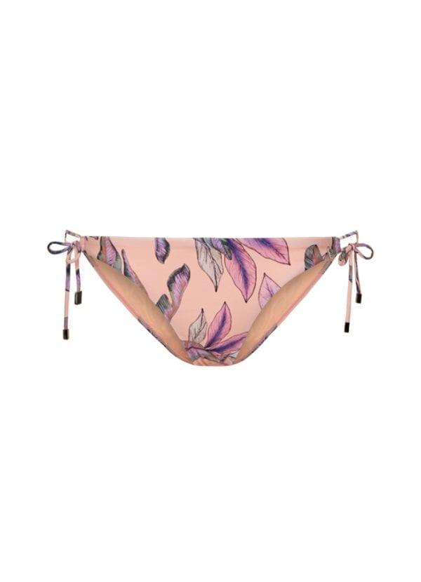 Beachlife Tropical Blush side tie bikini bottom Regular waist
