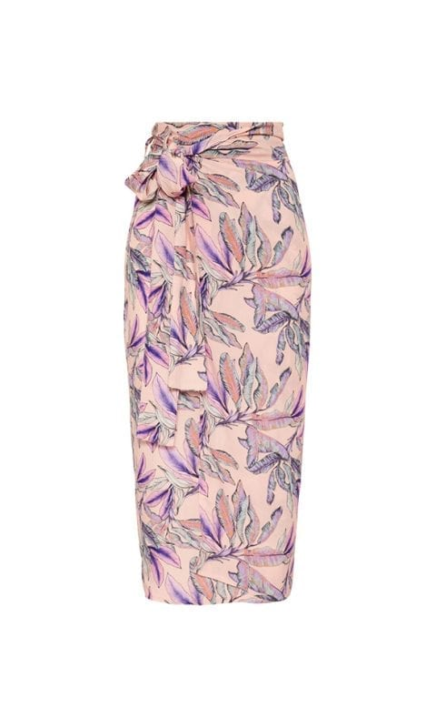 Beachlife Tropical Blush wrap skirt Viscose fabric