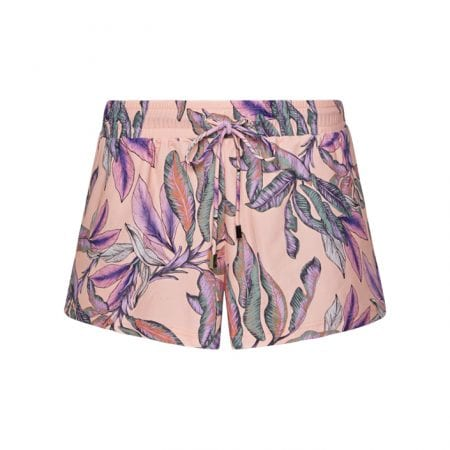 Beachlife Tropical Blush short Swimwear fabric