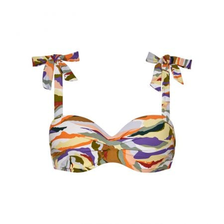 Beachlife Artisan shoulder bow bikini top Padded and Wired
