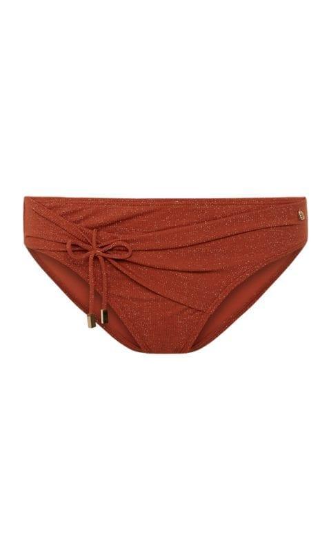 Beachlife Earthy Shimmer high bikini bottom Covered fit