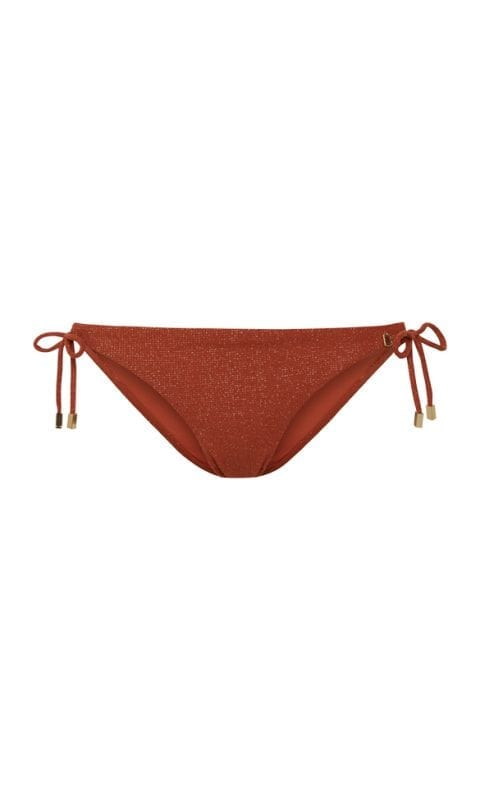 Beachlife Earthy Shimmer side tie bikini bottom Regular fit