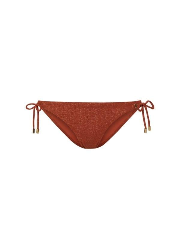 Beachlife Earthy Shimmer side tie bikini bottom Regular fit