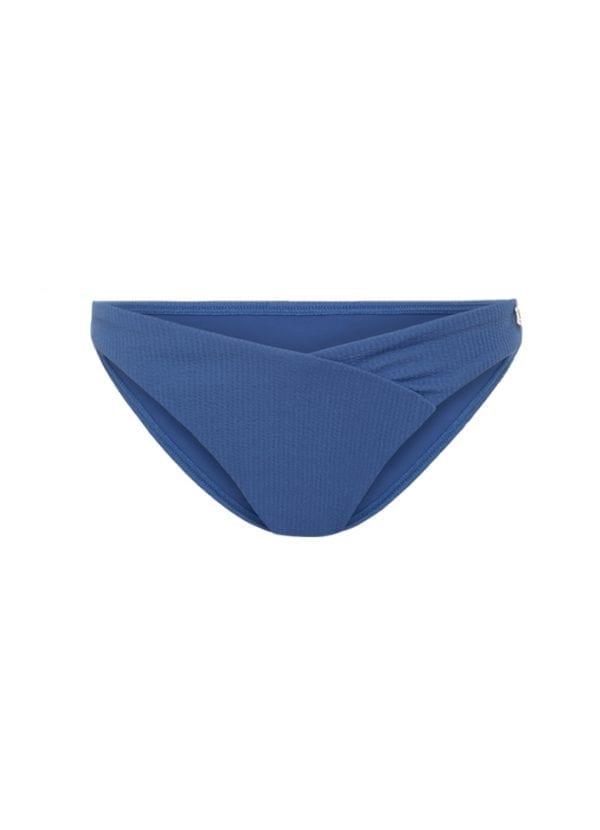 Beachlife Knitted Blue V-detail bikinibroekje lage fit