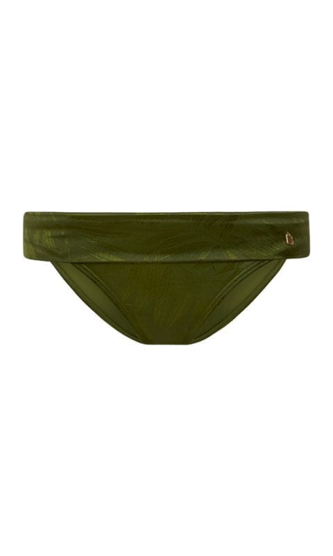 Beachlife Pesto turnover waistband bikini bottom Covered fit