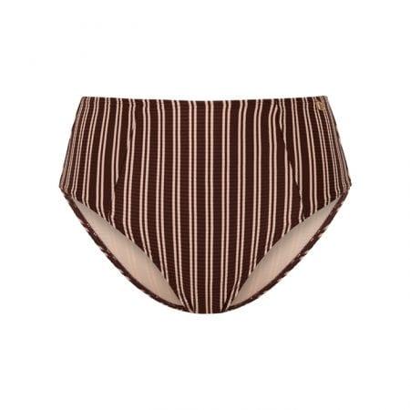 Beachlife Sweet Coffee high waist bikinibroekje bedekte fit