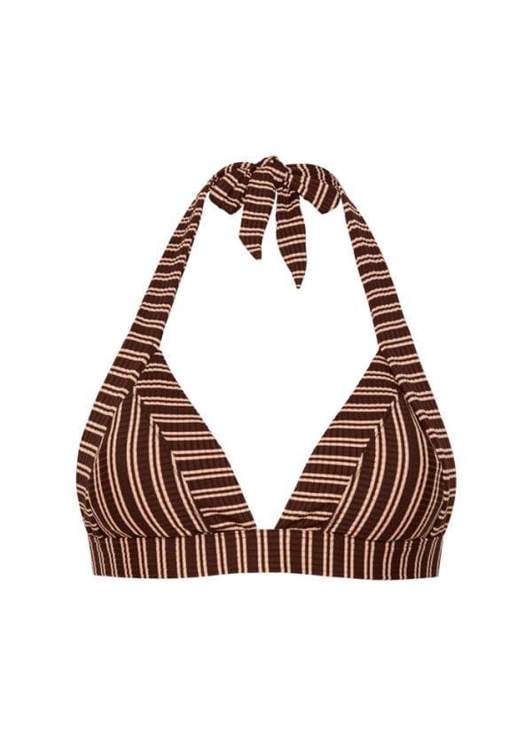 Beachlife Sweet Coffee triangel bikinitop uitneembare padding