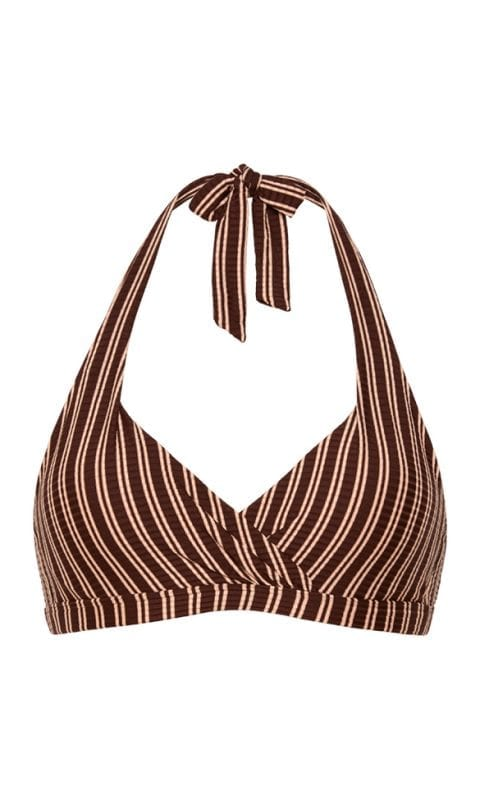 Beachlife Sweet Coffee halter bikini top Padded and Wired