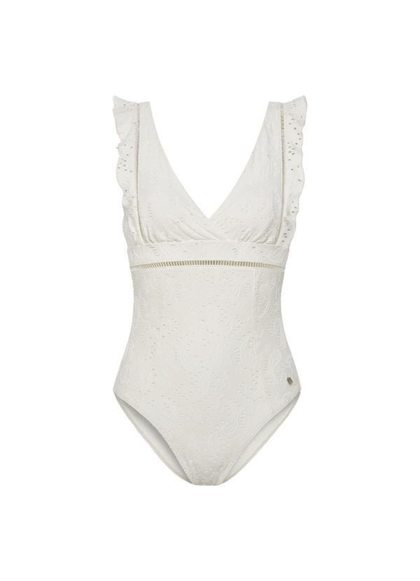 Beachlife Beachlife Blanc de Blanc ruched swimsuit Removable padding