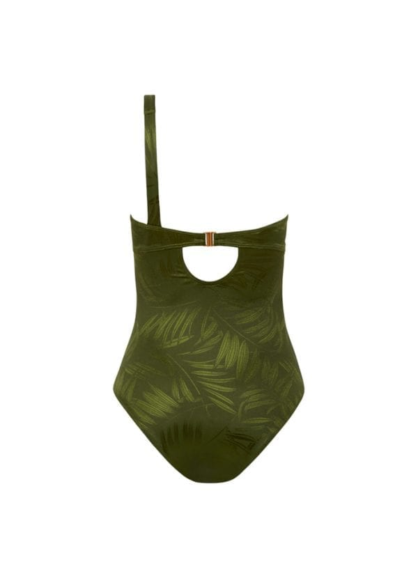 Beachlife Pesto one-shoulder swimsuit Wired