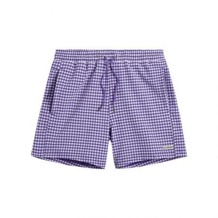 Beachlife Purple Check boys swim shorts 6 months - 16 years