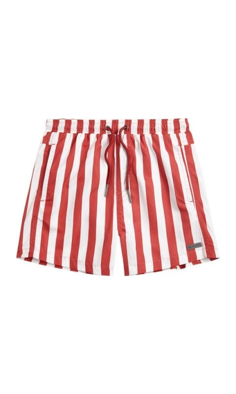 Beachlife Stripe Garnet boys swim shorts 6 months - 16 years