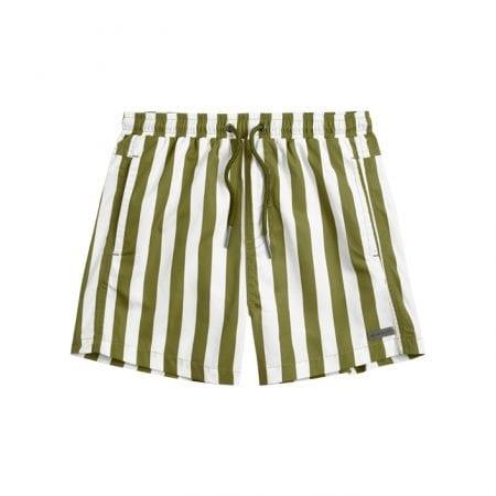 Beachlife Stripe Pesto boys swim shorts 6 months - 16 years