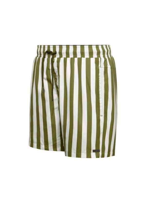 Beachlife Stripe Pesto men's swim shorts