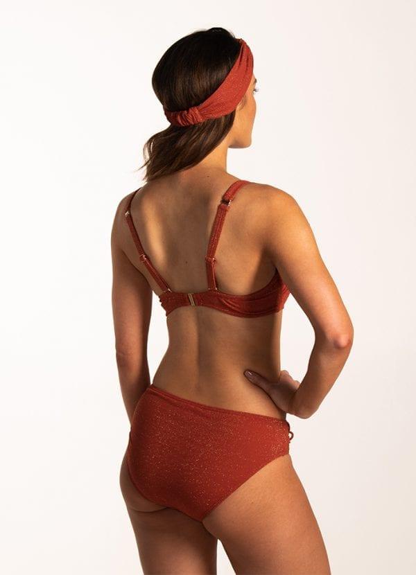 Beachlife Earthy Shimmer multiway bikinitop Voorgevormde cups & beugel & Earthy Shimmer hoog bikinibroekje Bedekte fit