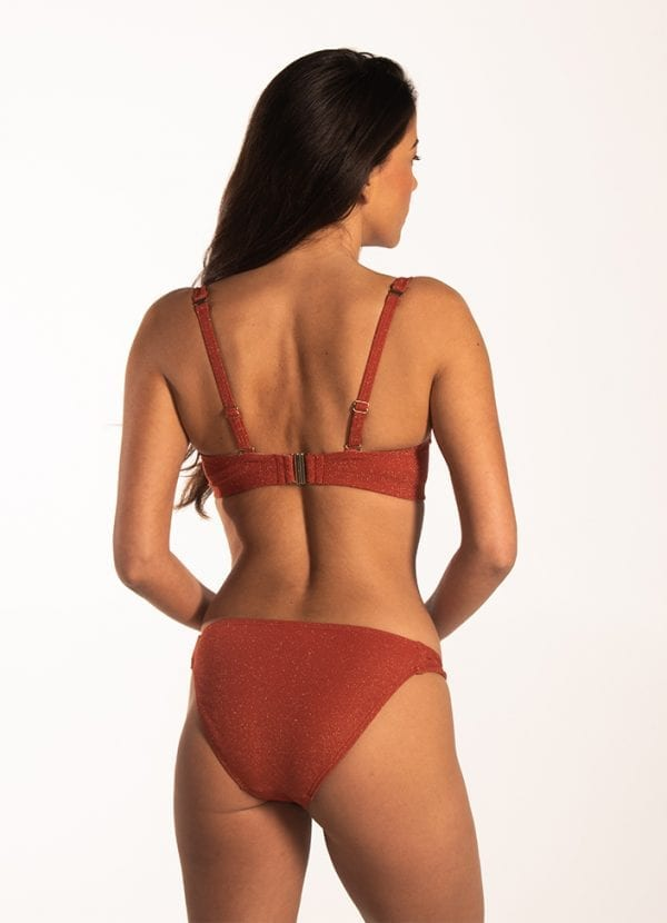 Beachlife Earthy Shimmer multiway bikinitop - Cup D,E,F Voorgevormde cups & beugel