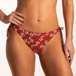 Beachlife Little Leaves strik bikinibroekje Normale fit