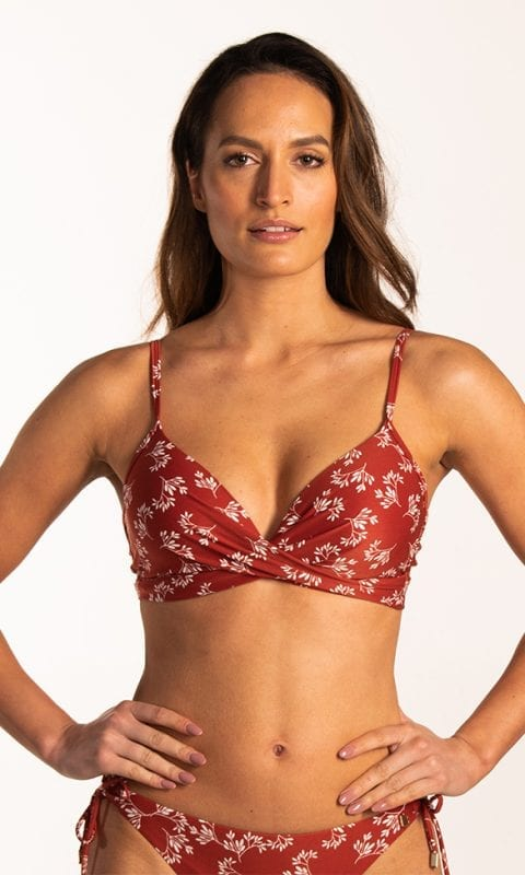 Beachlife Little Leaves twist bikinitop Voorgevormde cups & beugel