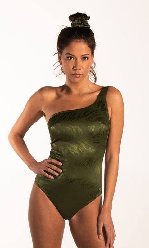 Beachlife Pesto one-shoulder badpak Beugel
