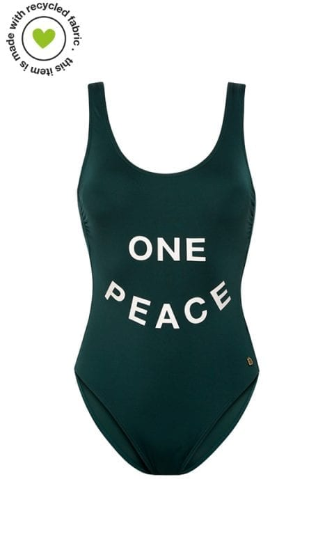 Beachlife Rich Green 'One peace' badpak Met padding