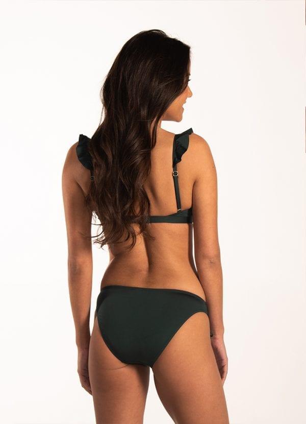 Beachlife Rich Green ruffle bikinitop Voorgevormde cups & beugel
