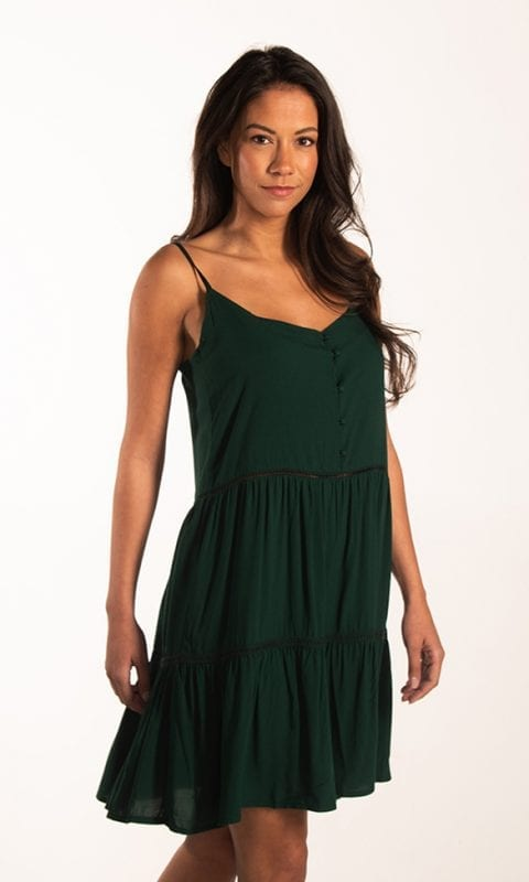 Beachlife Rich Green strandjurkje Van viscose